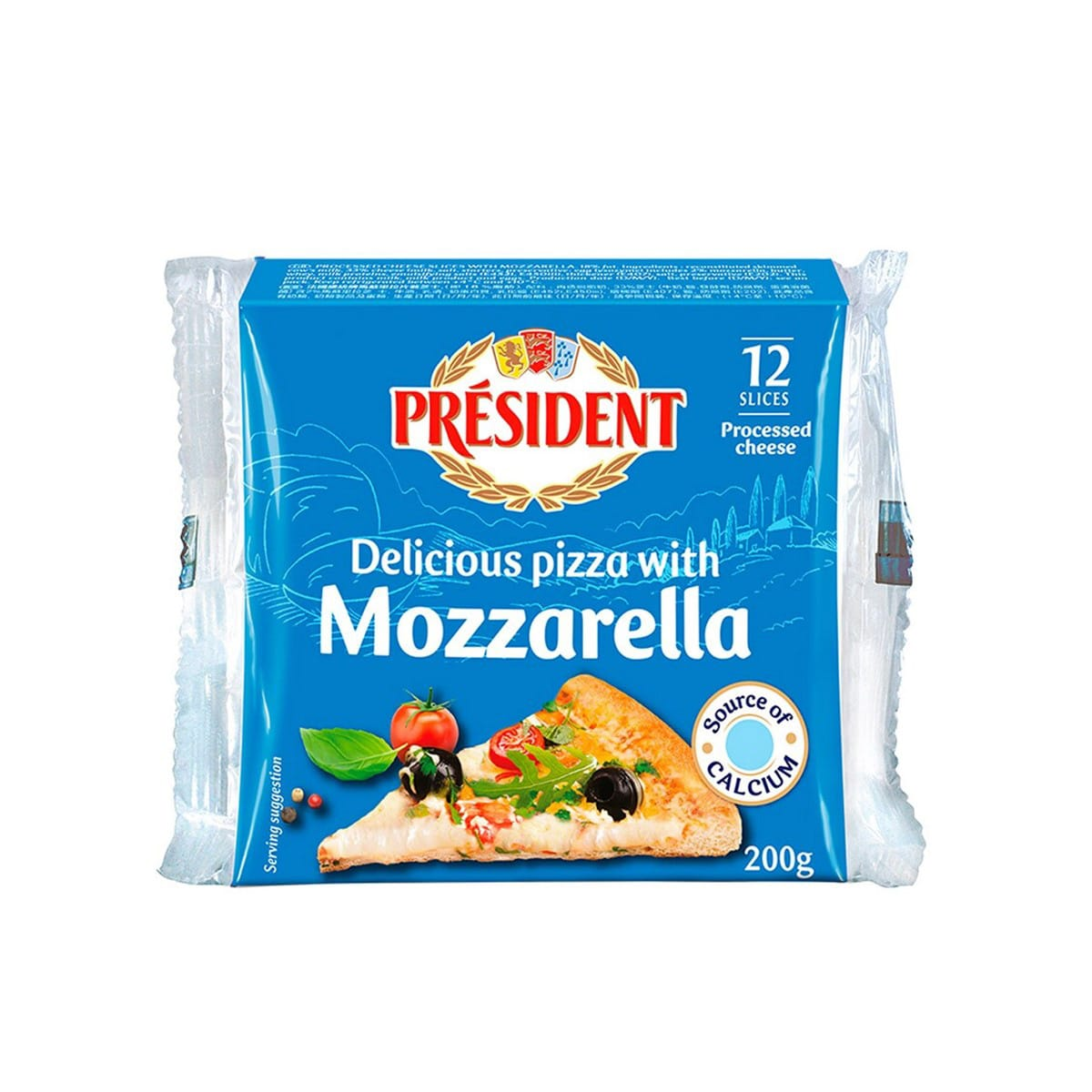 President Processed Cheese Slices With Mozzarella For Pizza Kcg Corporation